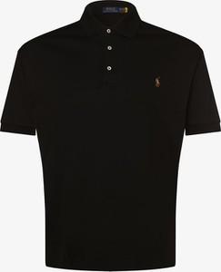 Czarna koszulka polo POLO RALPH LAUREN w stylu casual z dżerseju