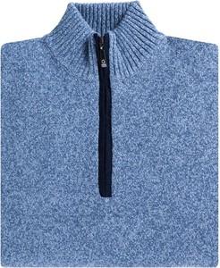 Niebieski sweter Giacomo Conti z tkaniny