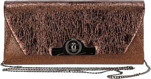 Brązowa torebka Verde lakierowana w stylu glamour