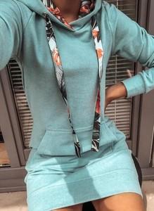 Sukienka Cikelly z długim rękawem z golfem mini