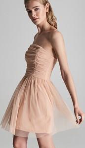 Różowa sukienka Sinsay gorsetowa