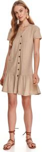 Sukienka Top Secret z krótkim rękawem koszulowa z okrągłym dekoltem