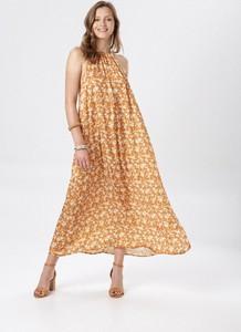 Sukienka born2be maxi z dekoltem halter w stylu casual