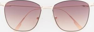 Złote okulary damskie Reserved