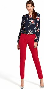 Bluzka Nife z długim rękawem w stylu casual z okrągłym dekoltem