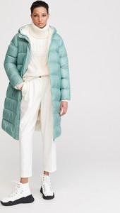 Turkusowy płaszcz Reserved w stylu casual