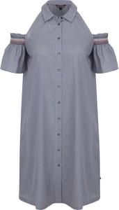 Sukienka Tommy Hilfiger z kołnierzykiem z krótkim rękawem w stylu casual
