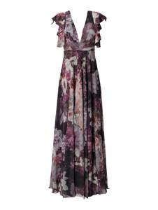 Różowa sukienka Troyden Collection z dekoltem w kształcie litery v w stylu boho