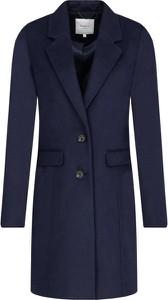 Niebieski płaszcz Pepe Jeans z wełny