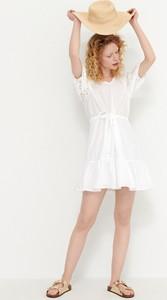 Sukienka House z bawełny z okrągłym dekoltem mini