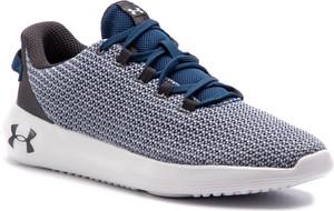 Niebieskie buty sportowe Under Armour sznurowane w młodzieżowym stylu