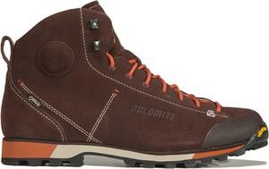 Brązowe buty trekkingowe Dolomite z goretexu sznurowane