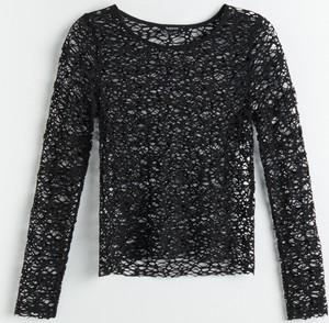 Czarna bluzka Reserved z długim rękawem
