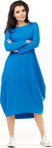 Sukienka Awama z dzianiny z długim rękawem midi