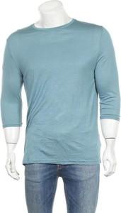 Niebieska koszulka z długim rękawem Zara Man z długim rękawem