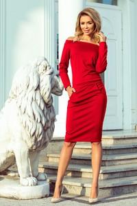 Sukienka N/A midi w stylu casual z długim rękawem