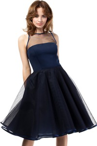 Niebieska sukienka MOE midi bez rękawów