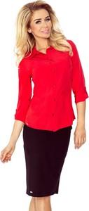 Czerwona koszula MORIMIA z kołnierzykiem z długim rękawem
