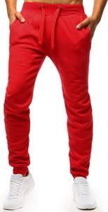 Czerwone spodnie sportowe Dstreet z bawełny