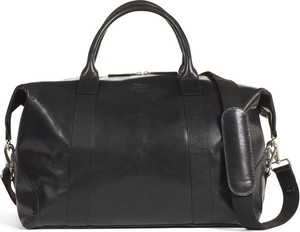 Czarna torba podróżna Howard London ze skóry