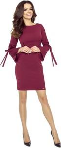 Sukienka Fokus mini z długim rękawem z okrągłym dekoltem