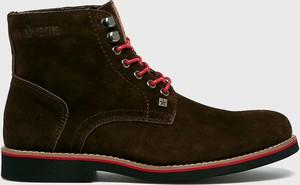 Brązowe buty zimowe Big Star sznurowane