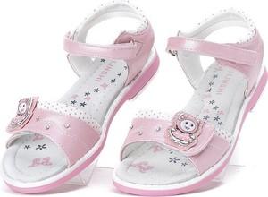 Różowe buty dziecięce letnie Royalfashion.pl na rzepy dla dziewczynek