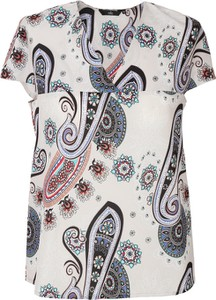 Bluzka Nife z krótkim rękawem z okrągłym dekoltem