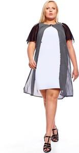 Sukienka Fokus w stylu casual z okrągłym dekoltem z szyfonu