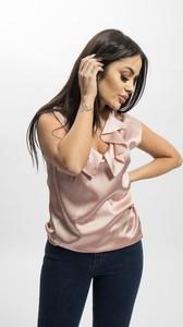 Różowa bluzka Pinko z okrągłym dekoltem