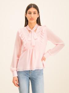 Bluzka Guess z dekoltem w kształcie litery v z długim rękawem