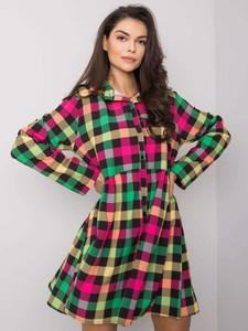 Sukienka Factory Price z długim rękawem w stylu casual koszulowa