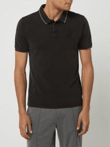 Czarna koszulka polo Guess z bawełny