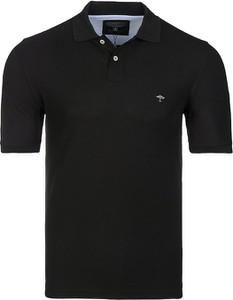 Czarna koszulka polo Fynch Hatton z bawełny z krótkim rękawem