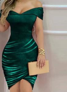 Sukienka Arilook z krótkim rękawem dopasowana mini
