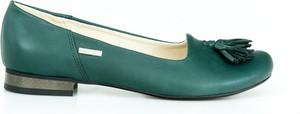 Zielone baleriny Zapato ze skóry w stylu klasycznym