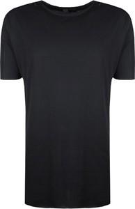 Czarny t-shirt Barbarossa Moratti w stylu casual z bawełny z krótkim rękawem