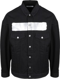 Czarna kurtka Givenchy w stylu casual z jeansu