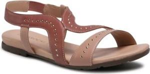 Różowe sandały Lasocki w stylu casual z klamrami