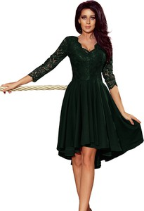 Sukienka Ptakmoda.com z dekoltem w kształcie litery v z długim rękawem