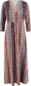 Sukienka bonprix bpc bonprix collection kopertowa maxi z długim rękawem