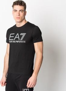 Czarny t-shirt Emporio Armani w młodzieżowym stylu z krótkim rękawem