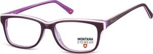Stylion Damskie Oprawki korekcyjne, optyczne nerdy Montana MA81D fioletowe