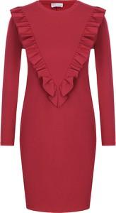 Sukienka Red Valentino z okrągłym dekoltem prosta mini