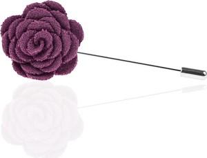 Em Men`s Accessories Szpilka do butonierki fioletowy kwiat EM 1