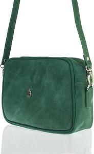 Zielona torebka BALEINE ze skóry na ramię mała