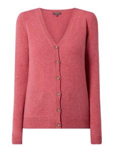 Różowy sweter Montego z wełny w stylu casual