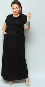 Sukienka KARKO maxi z krótkim rękawem z dzianiny
