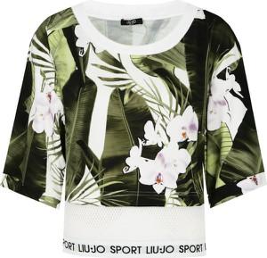 Bluzka Liu-Jo w młodzieżowym stylu z okrągłym dekoltem