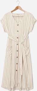 Sukienka House z okrągłym dekoltem w stylu casual z krótkim rękawem